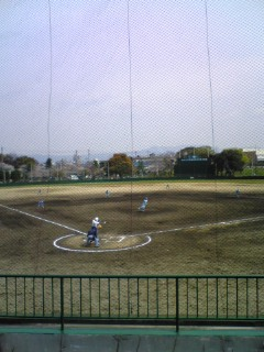 お花見野球♪
